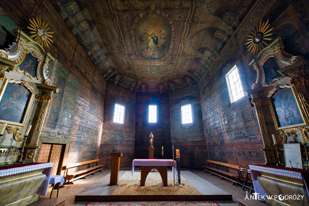 Drewniany kościół Wniebowzięcia Najświętszej Maryi Panny w Haczowie