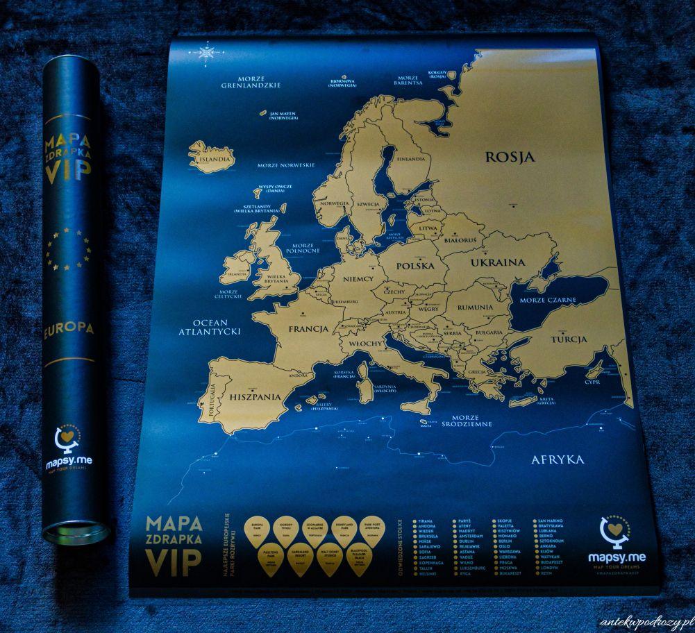 Mapa zdrapka VIP Europa